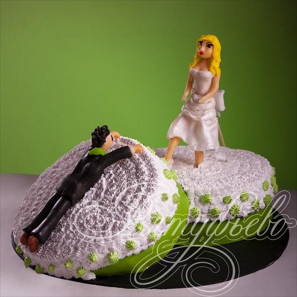 Торт на развод, фотографии антисвадебных тортов