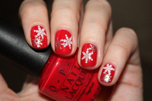 идеи для декора ногтей к новогодним праздникам маникюр с рисунком