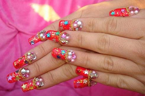 Идеи новогоднего маникюра зимние узоры н ногтях