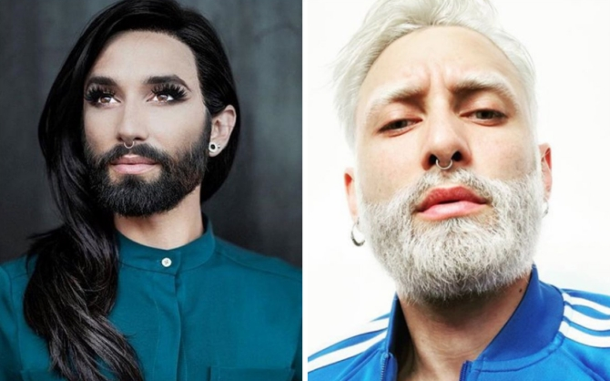 Звезды прошлых лет на одной сцене Евровидения. Кончита Вурст