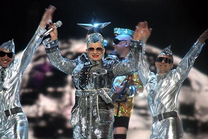 Звезды прошлых лет на одной сцене Евровидения. Верка Сердючка